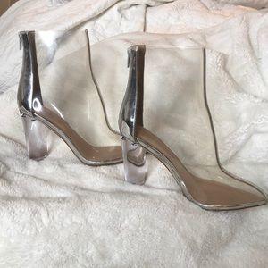 Beautiful Cinderella silver boots